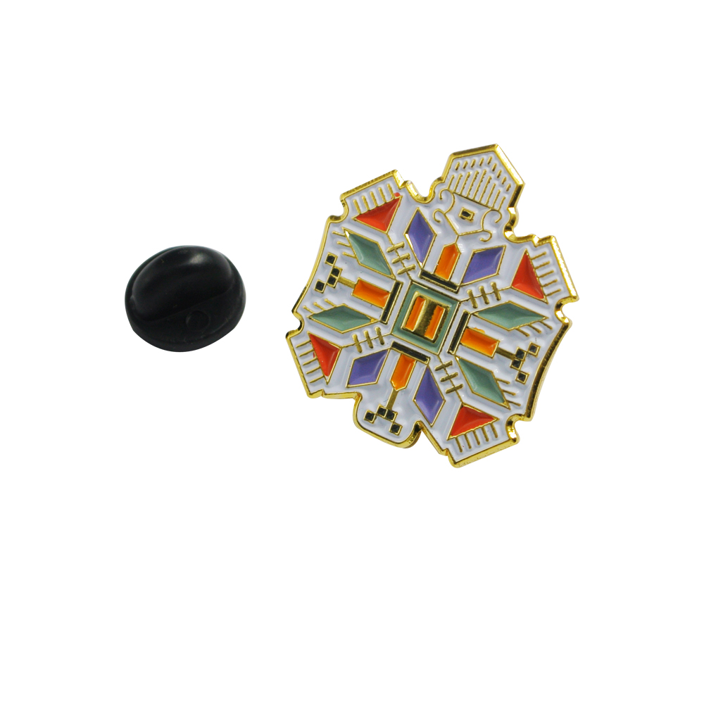 Colorful gold plate custom lapel pins for sale