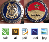 military challenge coins design for sales