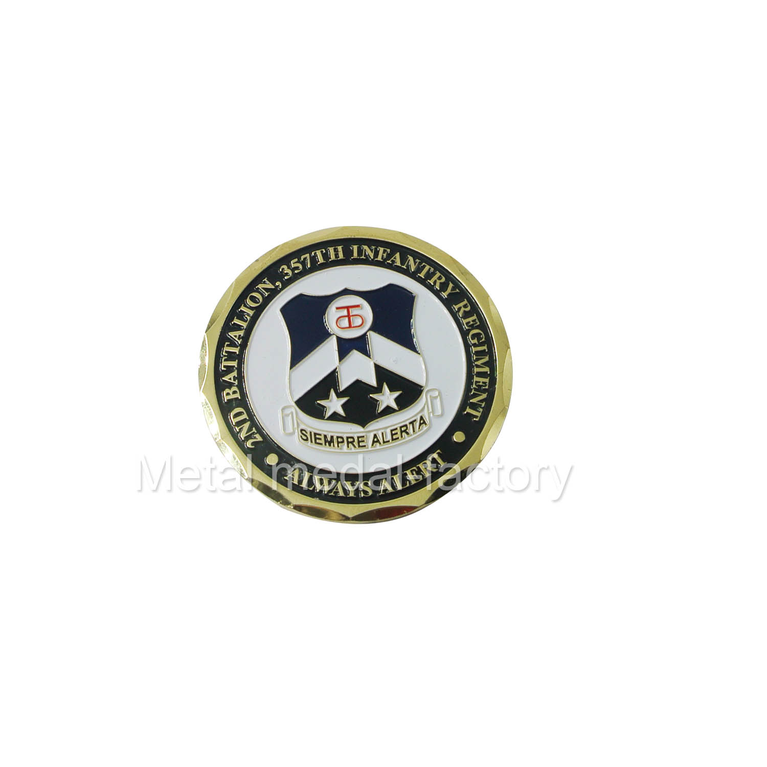 custom armor of gold challenge coin with special edge