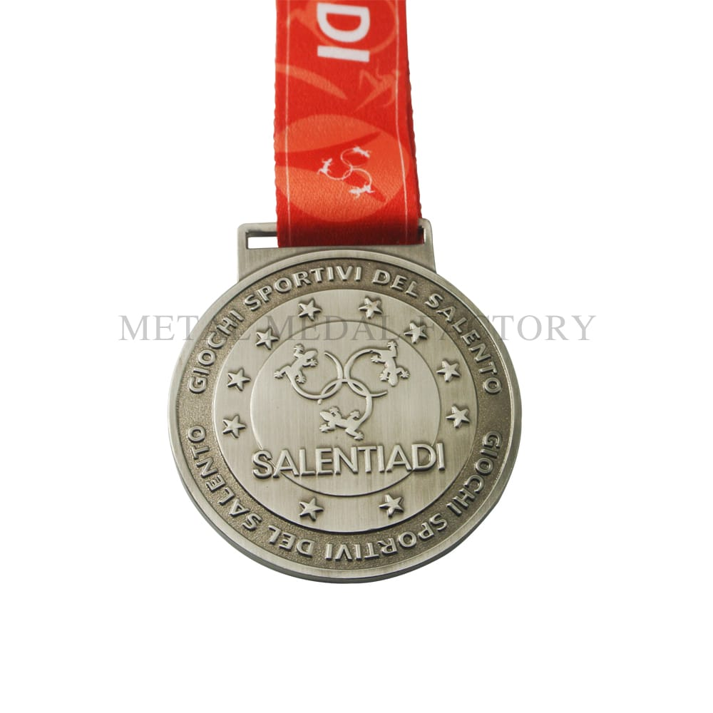 Salentiadi Without Color Custom Engraved Medals Awards