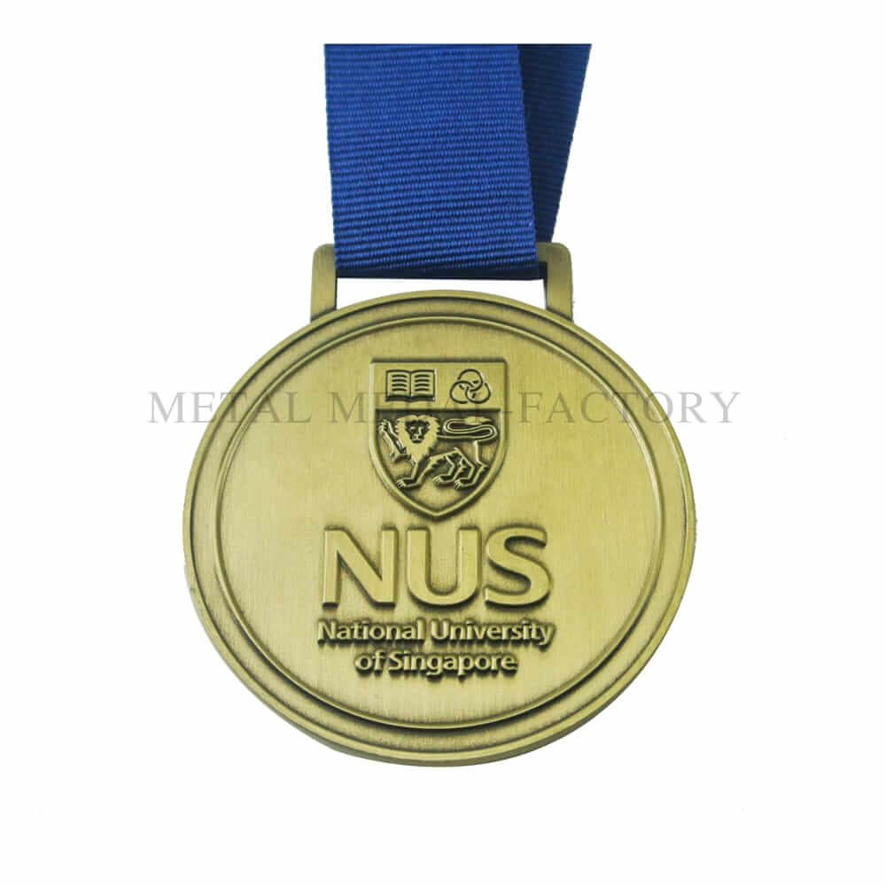 Nus National University Of Singapore Zinc Alloy Medal