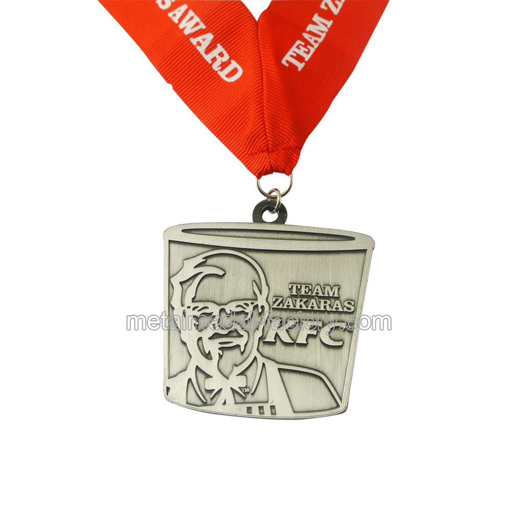 American KFC Square Shape Medal Without Color
