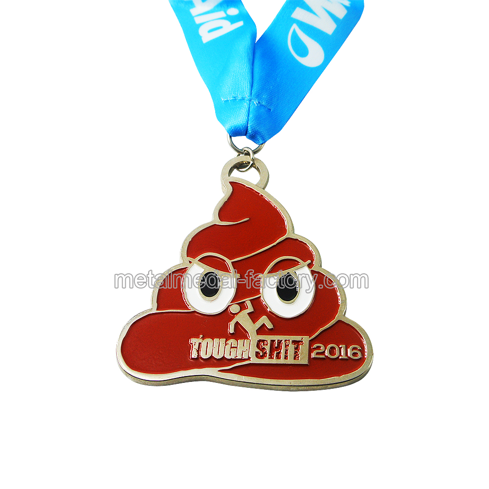 Special Shape Custom Running Medal With Ribbon