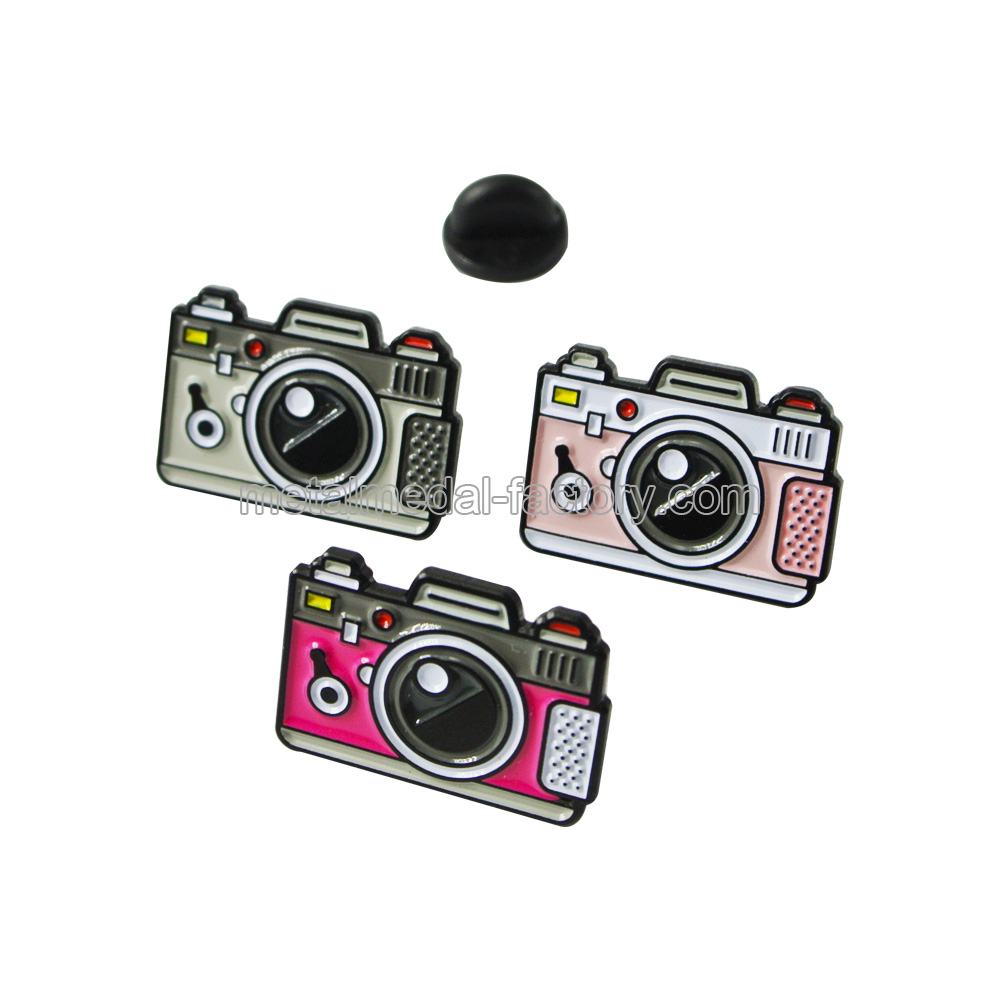 Camera Shape Design Custom Lapel Pins With Logo