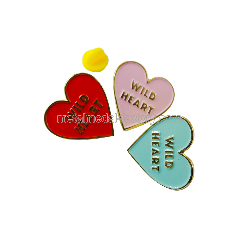 Custom Wild Heart Promotional Lapel Pin Badges