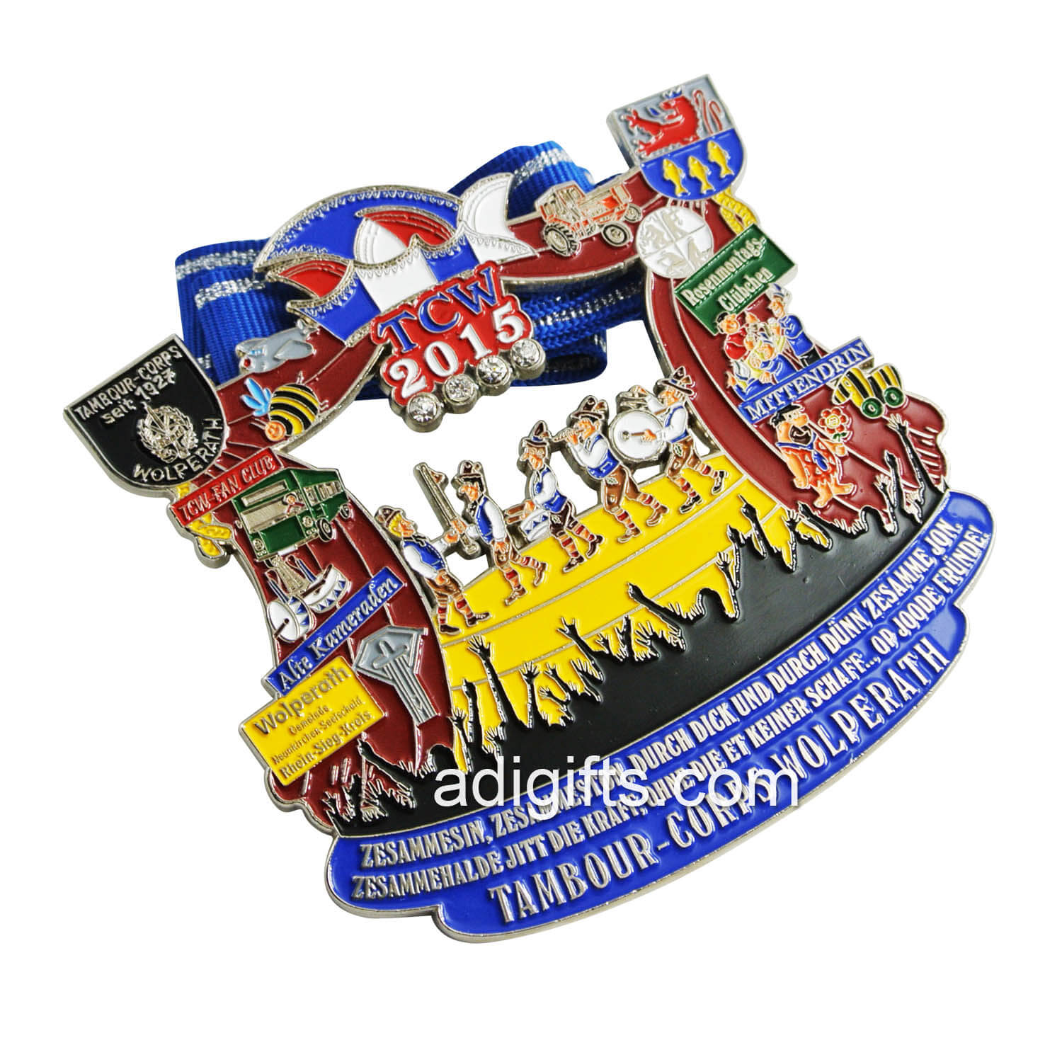 Wholsales custom metal zinc alloy color enamel carnival medals