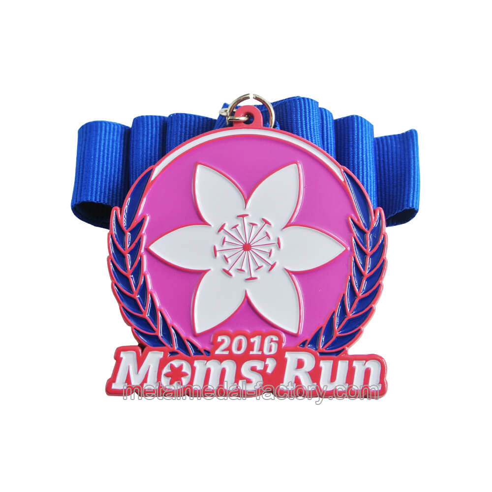 Mom's running race award winner medal