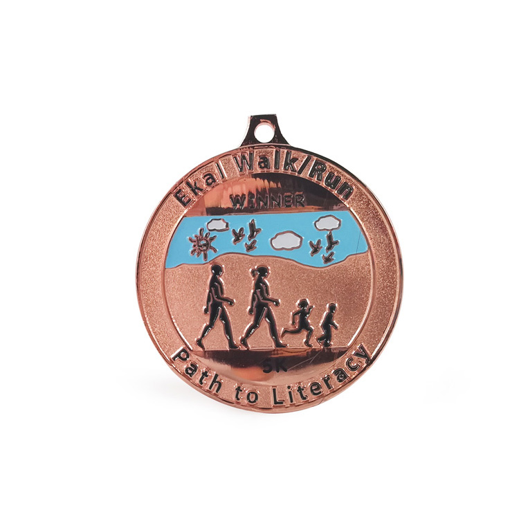 2019 Yinchuan Marathon Medal is integrated into the spirit of the city