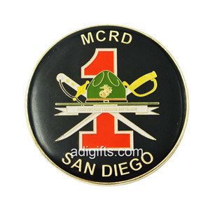 custom plating nickel challenge coin with epoxy