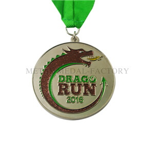 Glitter Dragon Custom Engraved Running Medals