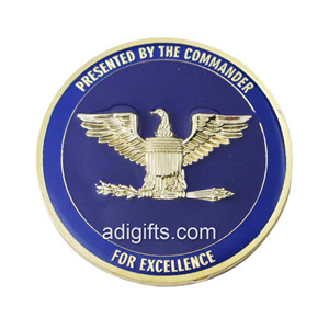 Custom gold souvenir challenge coins with epoxy
