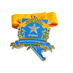 High quality custom 5k/ half marathon medal with a star