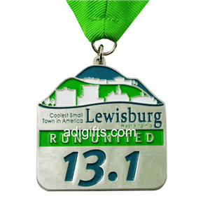 Cheap award running united sports marathon medal and trophy