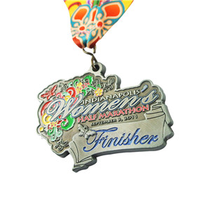 Custom 3D Of Finisher Zinc Alloy Half-Marathon Medal