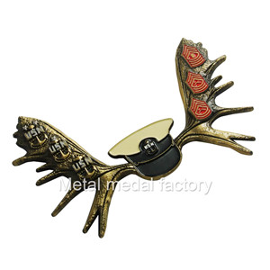 Butterfly shape custom double 3D side military coins