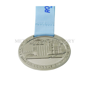 Shinny Nickel Custom Die cast Medals No Minimum
