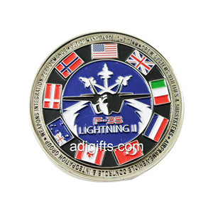 Free sample round shape custom personalised coins