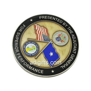 No minimum custom International army coin for sale