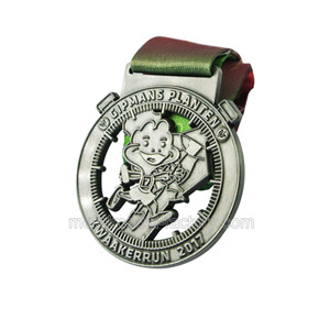 Antique Finish 2D Medal | Running Medal With Ribbon