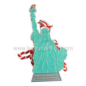 Custom Soft Enamel Statue of Liberty Medals No Minimum