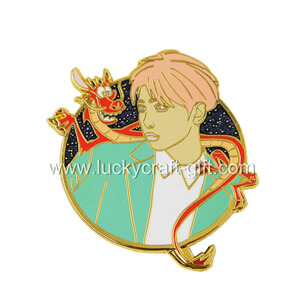 Enamel Pins Manufacturer Custom Hard Enamel Kpop Lapel Pin
