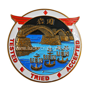 custom soft enamel 3d usn challenge coins small quantity