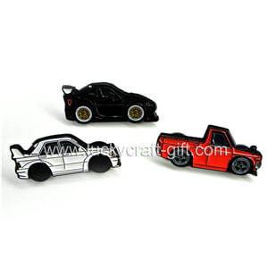 custom soft enamel car shaped lapel pins no minimum