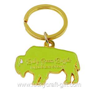 custom metal gold plating logo keychains no minimum