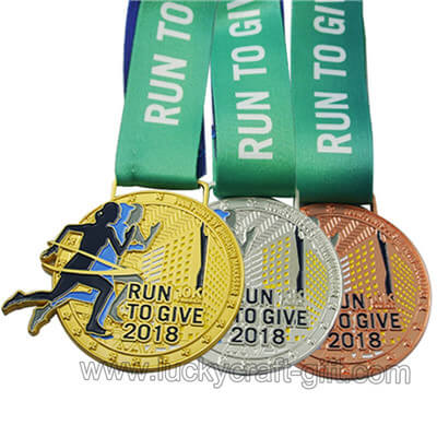 2019 custom marathon race medals makers wholesale gold sport event medals.