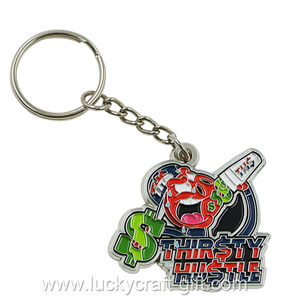 Custom Soft Enamel Metal logo keychains no minimum