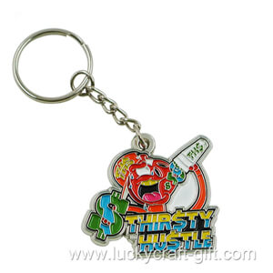 Custom metal soft enamel logo keychains no minimum