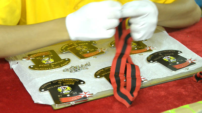 Assembly of Custom Sports Medals