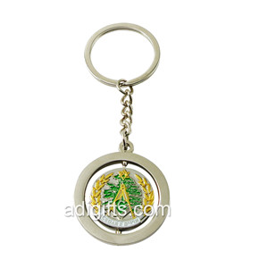 custom nickel rotating metal keychain