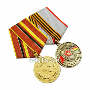 Fashion custom order of military medals with logo