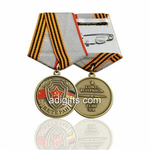 Hot sales custom military service medals and ribbons