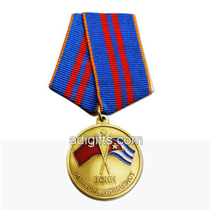 custom high quality army medals with ribbon