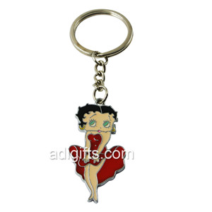high quality no minimum custom enamel logo metal keychain for promotion gift