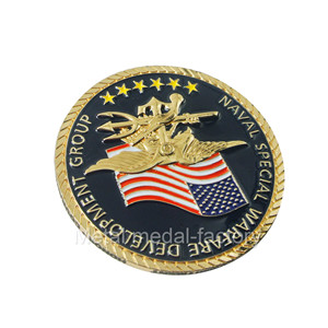 Custom Special Forces Challenge Coin With Edge