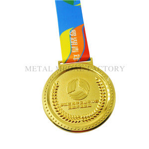 Round Shape Running Personalized Gold Medals